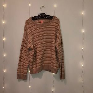 80's Inspired Striped Sweater